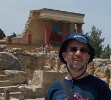 Daniel Berstein gaining knowledge at Knossos (Crete, Greece)